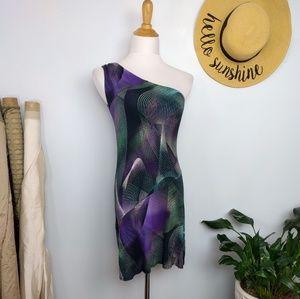 Envi One Shoulder Vaporwave Jersey Dress S